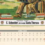 Calendar sheet April 2018