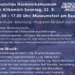 22. September: Großes Museumsfest mit Live-Musik