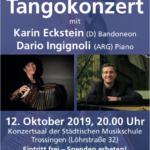 Tangokonzert Eckstein/Ingignoli, 12.10.19